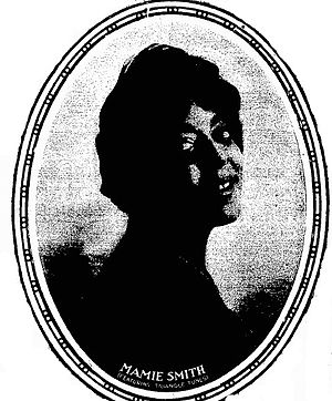 Mamie Smith - Gravure of Smith in the New York Clipper, 1921