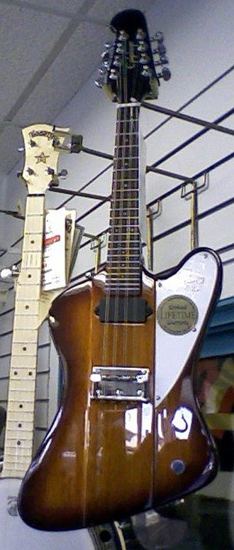 Electric mandolin - Epiphone's Mandobird solid-body electric mandolin.