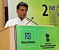 Manish Tewari addressing at the 2nd National Photo Awards 2011-12 function, organised by the Photo Division, Ministry of I&B, in New Delhi on March 28, 2013.jpg
