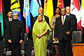 Manmohan Singh, the Prime Minister of Bangladesh, Smt. Sheikh Hasina, the President of South Africa, Mr. Jacob Zuma and other Heads of Commonwealth countries, during the CHOGM 2009, in Port of Spain on November 27, 2009.jpg
