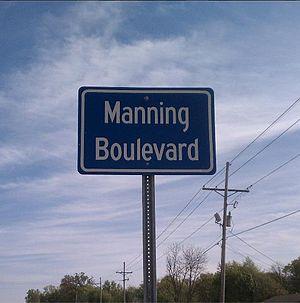 Drew, Mississippi - Manning Boulevard, named after Archie Manning