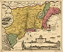 Map of New Netherland and New England (around 1685)