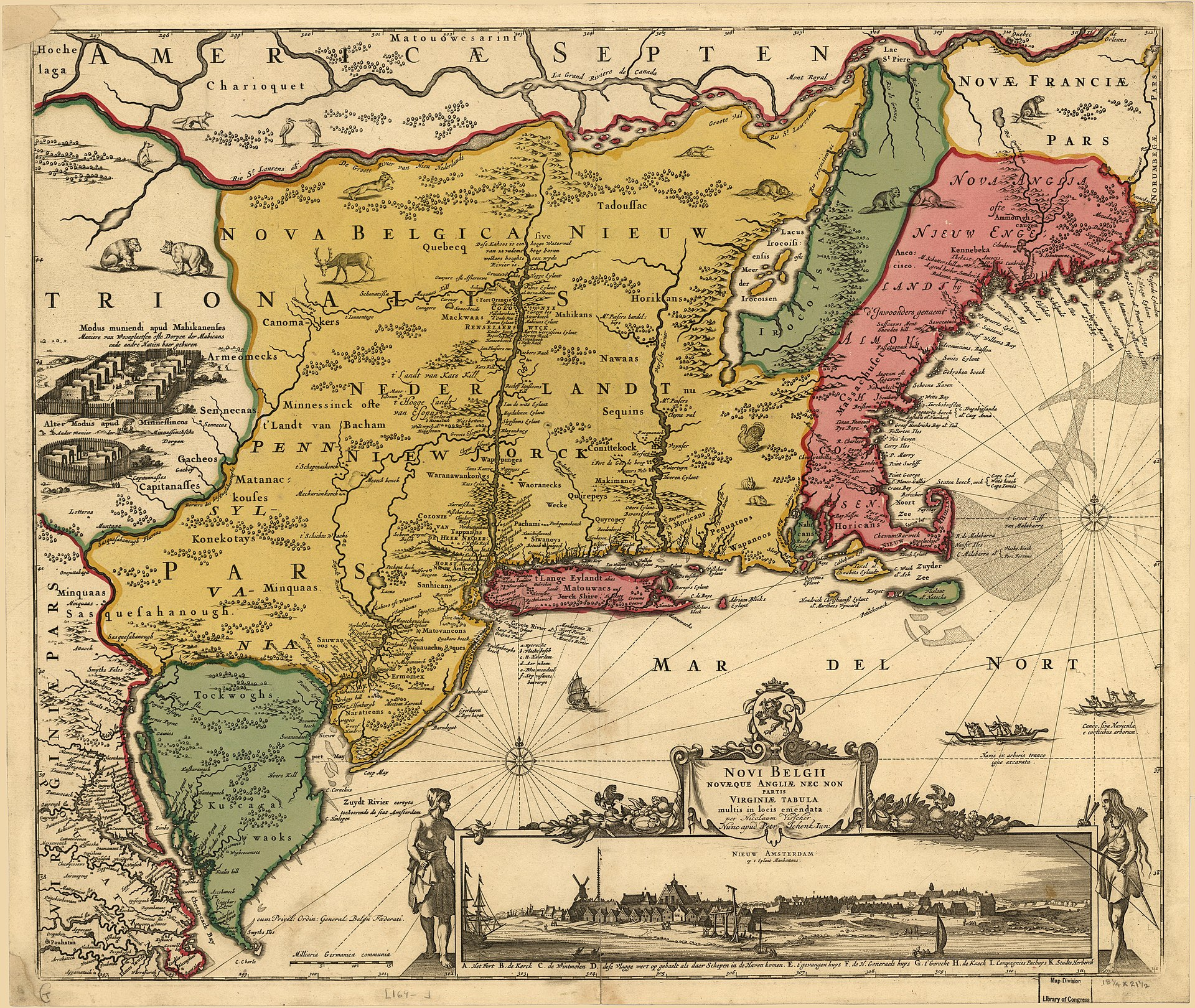 Map of New England Colonies