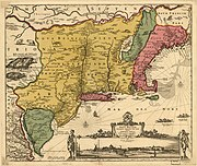 Reprint of 1650 map of New Netherland
