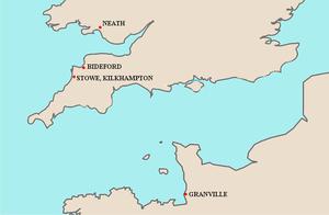 Richard de Grenville - Image: Map Grenville Seats