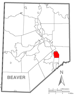 Map of Baden, Beaver County, Pennsylvania Highlighted.png