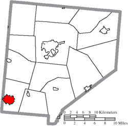 Location of Blanchester in Clinton County