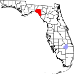 A state map highlighting Taylor County in the corner part of the state. It is medium in size.