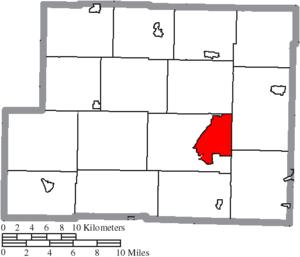 Cadiz, Ohio - Image: Map of Harrison County Ohio Highlighting Cadiz Village