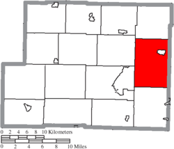 Location of Green Township in Harrison County