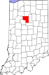 State map highlighting Cass County