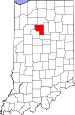 Map of Indiana highlighting Cass County.svg