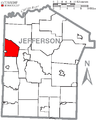 Map of Jefferson County, Pennsylvania Highlighting Union Township.PNG
