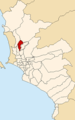 Map of Lima highlighting Las Gardenias.png