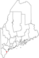 Map of Maine highlighting Old Orchard Beach.png