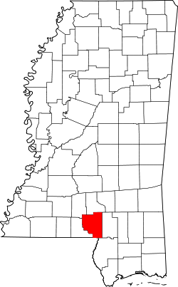 Map of Mississippi highlighting Marion County.svg