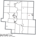 Map of Muskingum County Ohio Highlighting Norwich Village.png