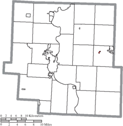 Location of Norwich in Muskingum County