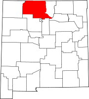 Map of New Mexico highlighting Rio Arriba County.svg