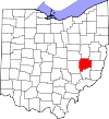 State map highlighting Guernsey County