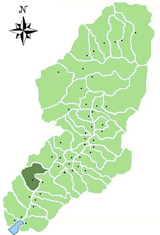 Angolo Terme - Image: Map of comune of Angolo Terme in Val Camonica (LG)