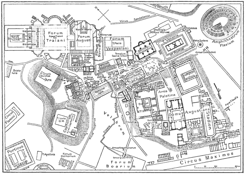 Fasciculus:Map of downtown Rome during the Roman Empire large.png