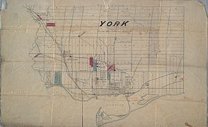 High Park - A map from the late 1800s created sometime after the establishment of High Park. The park is indicated at the left.