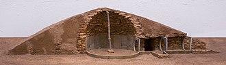Los Millares - model of tomb - Los Millares.