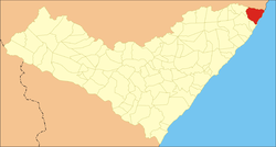 Location of Maragogi in the State of Alagoas
