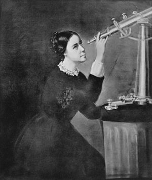 Maria Mitchell - Maria Mitchell, painting by H. Dasell, 1852