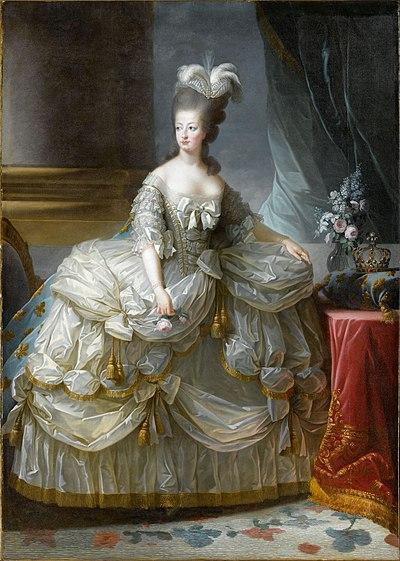 María Antonieta en un retrato realizado por Élisabeth Vigée Le Brun en 1778.