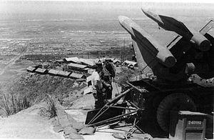 Marine HAWK missile position overlooking Danang Air Base, 1968