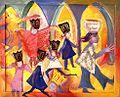 Marionetten, Margret Hofheinz-Döring,Strukturmalerei, 1988 (WV-Nr.7381).jpg