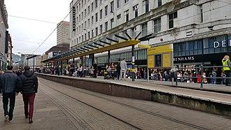 Market Street tram stop - Market Street tram stop in January 2017
