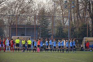 Marmara Üniversitesi Spor - Marmara Üniversitesi Spor squad at a home match in the 2013–14 season.