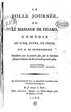 the marriage of figaro play - Le Mariage De Figaro Livre Audio