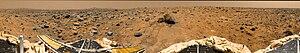 Oxia Palus quadrangle - Image: Mars pathfinder panorama large
