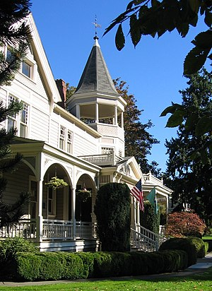 Vancouver, Washington - The Marshall House in Officers Row, built in 1886 and later named after George C. Marshall