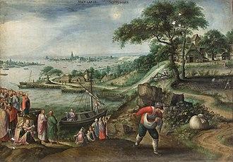 Marten van Valckenborch - Parable of the sower (month of September)