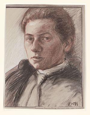 Martha Cunz - Martha Cunz, Self-Portrait, 1899