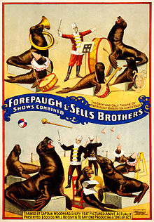 Marvelously trained sea lions & seals, poster for Forepaugh & Sells Brothers, 1899.jpg