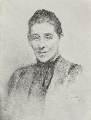 Armitt Library - Image: Mary Louis Armitt by Frederic Yates from her 1912 Grasmere book