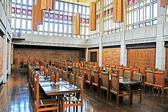 Massey College, Toronto - Ondaatje Hall, the main dining hall of the college used for daily meals and High Table dinners