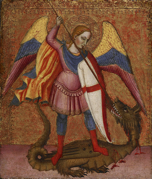 File:Master of Saint Verdiana - Archangel Michael Slaying the Dragon - Walters 37705.jpg