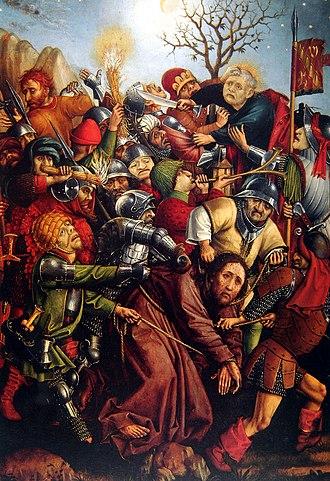Master of the Karlsruhe Passion - Image: Master of the Karlsruhe Passion Arrest of Christ