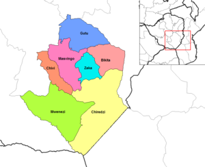 Gutu - Image: Masvingo districts