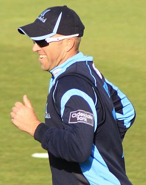 Matt Prior in the field for Sussex during a CB...