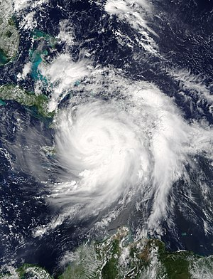 Effects of Hurricane Matthew in Haiti - Image: Matthew 2016 10 04 1535Z