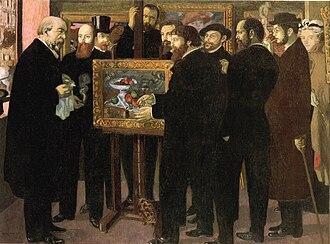 Les Nabis - Homage to Cézanne, Maurice Denis, 1900. Musée d'Orsay, Paris.