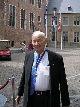 Strong na de uitreiking van de Four Freedoms Award in 2010